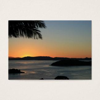 De tropische Zonsondergang van het Eiland - het Visitekaartjes