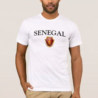 De Trots van SENEGAL van de T-shirt van de Lijnen