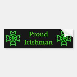 De trotse Groene Keltische Knopen van de Ier Bumpersticker