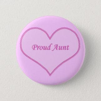 De trotse Knoop van de Tante, Roze Ronde Button 5,7 Cm