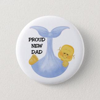 De Trotse Papa van de Jongen van het baby Ronde Button 5,7 Cm
