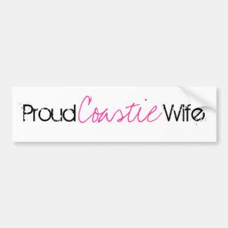 De trotse Sticker van de Bumper van de Vrouw van d