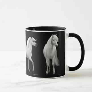 De trotse Witte Mok van Paarden