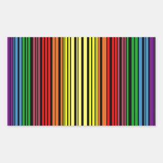 De trotsstreepjescode van de regenboog rechthoekige sticker