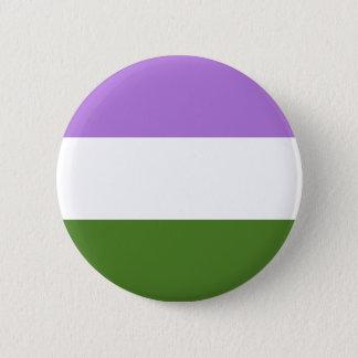 De trotsvlag van Genderqueer Ronde Button 5,7 Cm