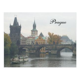De Tsjechische Republiek van Charles Bridge Praag Briefkaart
