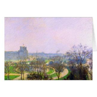De tuin Tuileries door Camille Pissarro Kaart