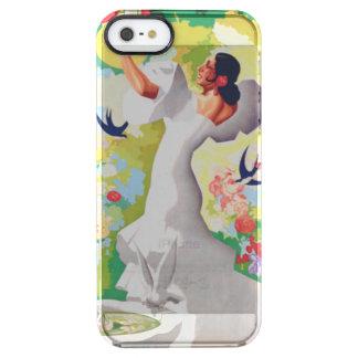 De Tuin van de Fiesta van de Bloemen van de Vogels Doorzichtig iPhone SE/5/5s Hoesje