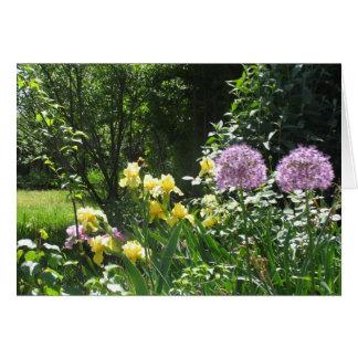 De Tuin van de iris Wenskaart