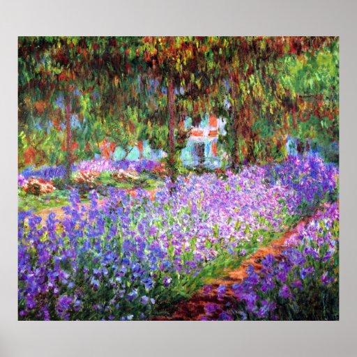 De tuin van de Kunstenaar in Giverny, Claude Monet Afdruk
