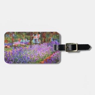 De tuin van de Kunstenaar in Giverny door Monet Bagagelabel