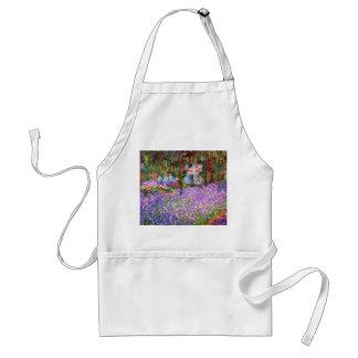 De tuin van de Kunstenaar in Giverny door Monet Standaard Schort