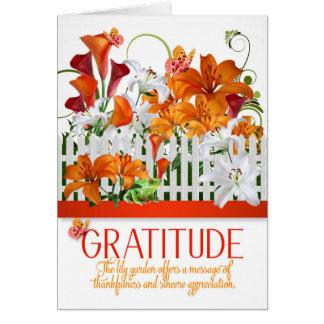 De Tuin van de Lelie van de dankbaarheid dankt u Kaart