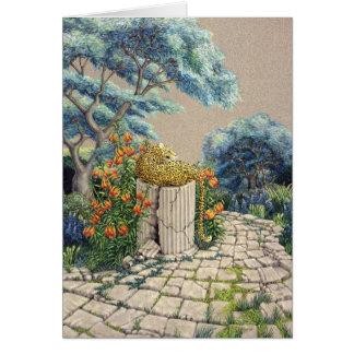 De Tuin van de luipaard, door Darlene P. Coltrain Briefkaarten 0