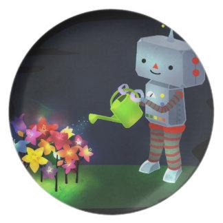 De tuin van de Robot Melamine+bord