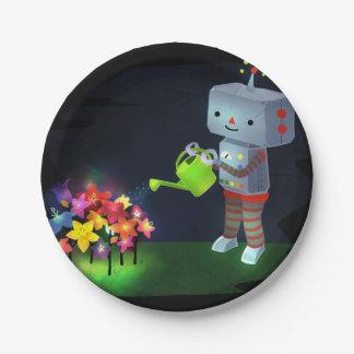 De tuin van de Robot Papieren Bordje