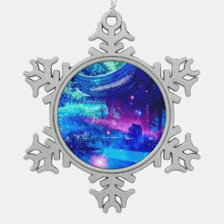 De Tuin van de sereniteit Tin Sneeuwvlok Ornament