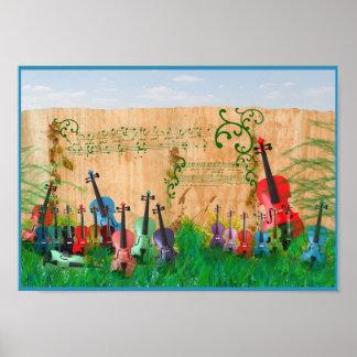 De Tuin van de viool Poster