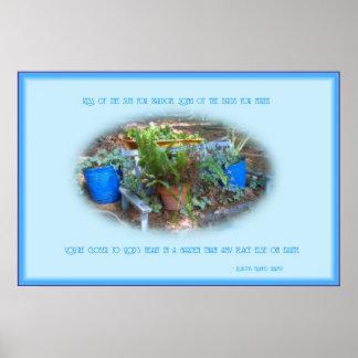 De Tuin van het land Poster