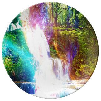 De Tuin van het Meisje van de regenboog Porselein Borden