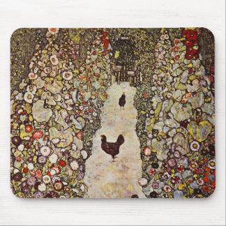 De Tuin van Klimt met het Stootkussen van de Muis  Muismat