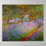 De Tuin van Monet door Claude Monet Afdruk