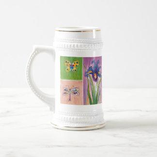 De tuin-vriendschappelijke BloemenStenen bierkroes Bierpul