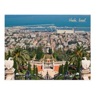De Tuinen van Bahá'í van Haifa, Israël Briefkaart