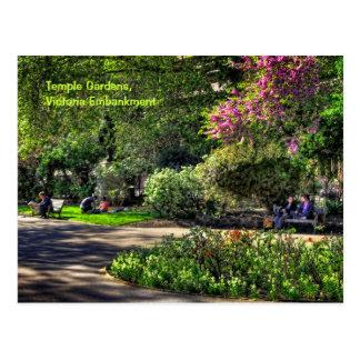 De Tuinen van de tempel, de Dijk van Victoria, Briefkaart