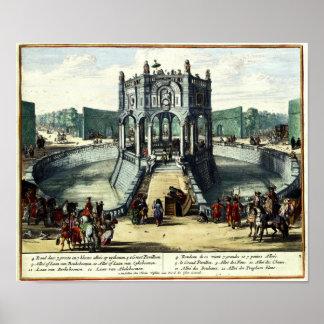 De Tuinen van het genoegen van Enghien (1685) Poster