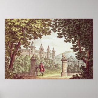 De tuinen van Kasteel Windsor Poster