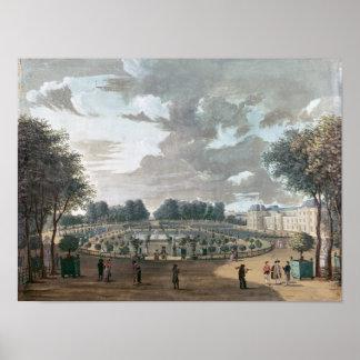De tuinen van Luxemburg Poster