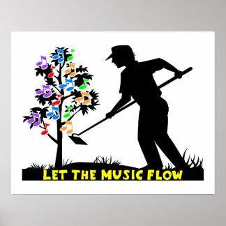 De Tuinman van de Stroom van de muziek Poster