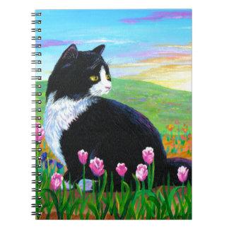De Tulpen Creationarts van de Kat van de smoking Notitieboek