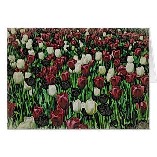 De Tulpen van de houtsnede Kaart