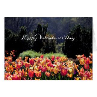De Tulpen van de waterverf voor Valentijnsdag Kaart