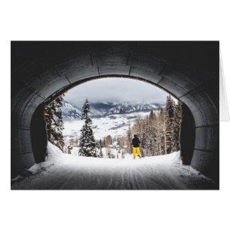 De Tunnel van de Ski van Colorado Briefkaarten 0