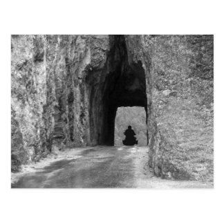 De Tunnel van de Weg van naalden Briefkaart