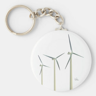 De Turbine van de wind Basic Ronde Button Sleutelhanger