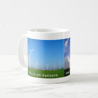 De Turbines van de wind zijn een Doorn in het oog Koffiemok