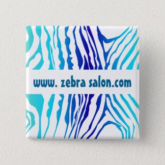 De turkooise Blauwe Elegante Gestreepte Beroeps Vierkante Button 5,1 Cm