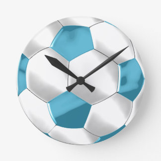 Voetbal bal klokken voetbal bal muur klokken - Sterke witte werpen en de bal ...