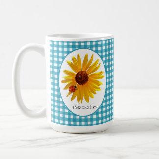 De Turkooise Gingang van de Zonnebloem van het Koffiemok