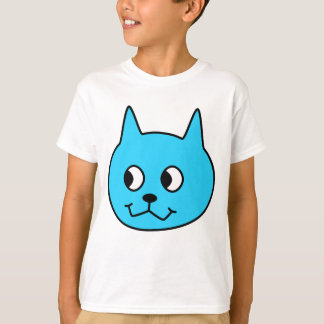 De turkooise Kat van de Cartoon T Shirt