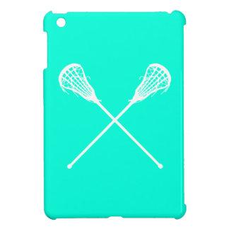De turkooise Lacrosse plakt iPad MiniHoesje iPad Mini Hoesje