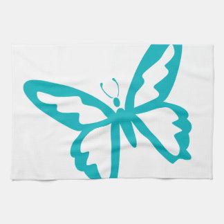 De turkooise vlieg van de Vlinder, rupsband, Theedoek