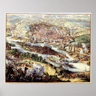 De Turkse Belegering van Wenen 1863 Poster