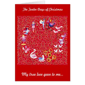 De twaalf Dagen van Kerstmis Kaart