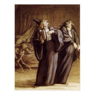 De twee Artsen en de Dood door Honore Daumier Briefkaart