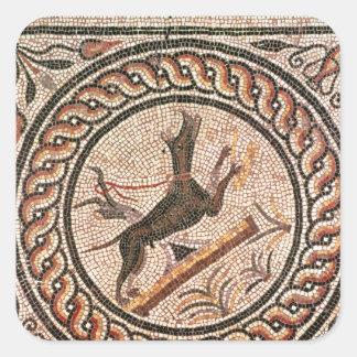 De tweede-2nd-3ste eeuw van Canem van het hol Vierkante Sticker